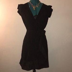 Monteau black and white polka dot dress